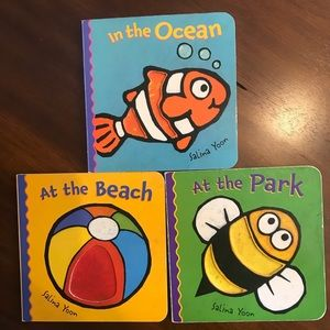 ✨ 5/$25✨ Salina Yoon Baby Board Book Lot